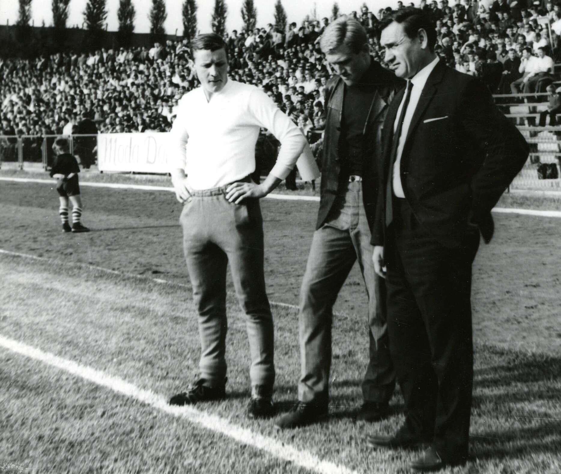 Rok 1971. Kazimierz Gorski , Jacek Gmoch i Robert Gadocha. Fot. archiwum Górskich/FOTONOVA